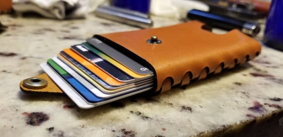 Custom Stich-less Wallet and Money Clip made from Premium English Bridle leather.
