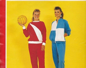 ON SALE 1970s Sewing Pattern - BevKnits 8009 Ladies Tracksuit and Pyjamas  Size 8 - 22 Large Factory folded and complete