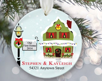 Housewarming Gift OUR FIRST HOME Ornament Personalized Christmas Ornament New House Ornament Home sweet Home Ornament Wedding Gift OR187