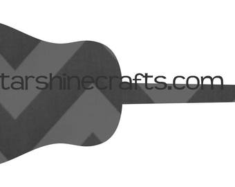 Guitar SVG for personal cutting machines - instant download