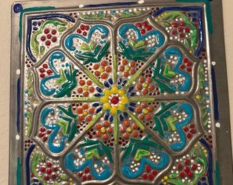 Metal mandala wall art