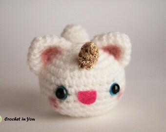 Cat Unicorn White (Keychain) - Ready to Ship