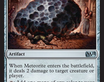 Meteorite for M15, Limited edition MTG Artist proof, By Scott Murphy