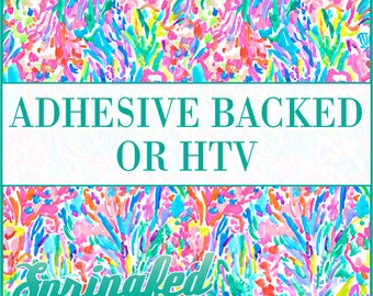 LP Inspired Rainbow Watercolor Pattern #1 Adhesive or HTV Heat Transfer Vinyl for Shirts Crafts and More!