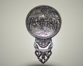 Antique hand mirror Etsy