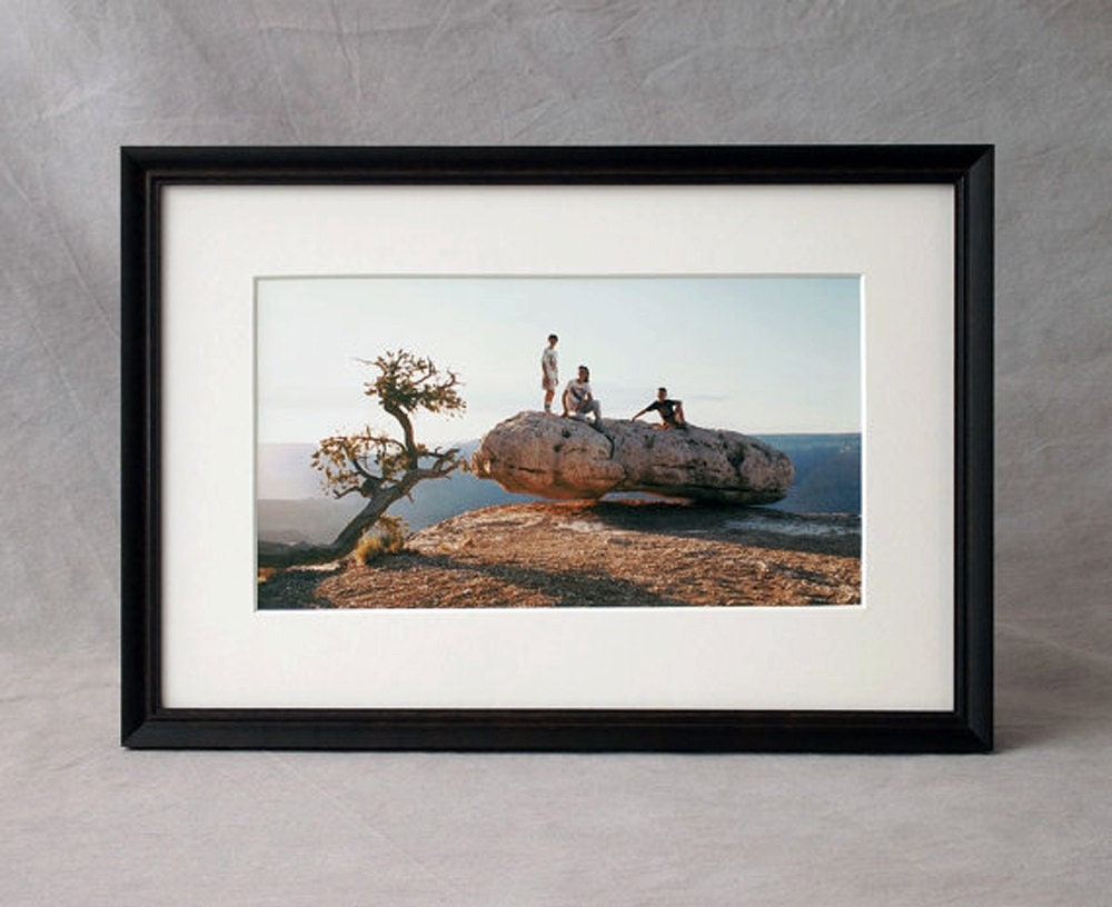 8x12 Wood Picture Frame thin black frame Peruvian walnut