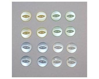 80 x buttons basic 14 mm 2 holes: 4 colors set F - 000805