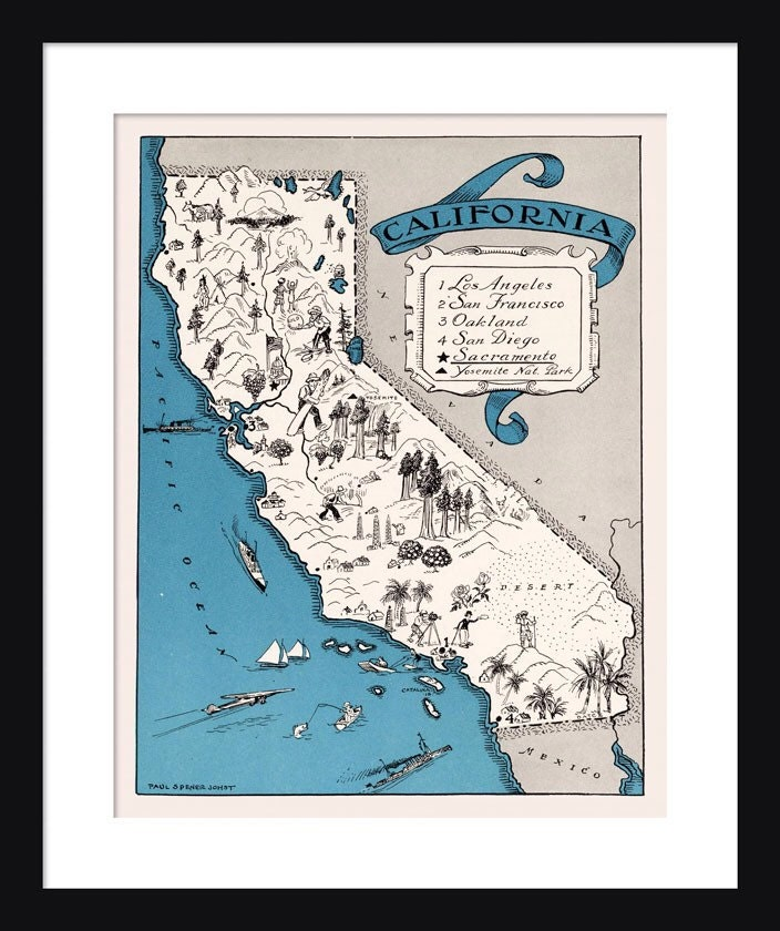 zoom California Map Map of California State