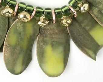 Necklace with Faux Copper Pendants