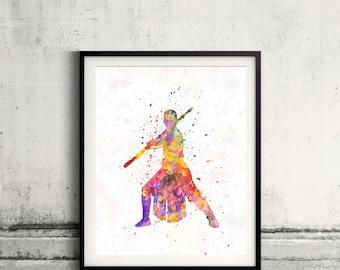 Rey Star Wars 01- Fine Art Print Glicee Rey Poster Watercolor Children's Illustration Wall - SKU 2556