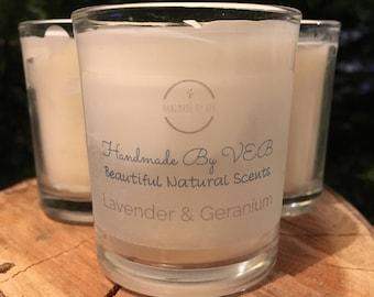 Lavender & Geranium Soy Candle