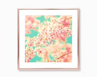 Cherry blossom art, framed wall art, wall art canvas, mothers day gift, girl room decor, extra large wall art, spring decor, flower, floral