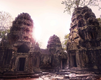 Canvas of the great Temple in Cambodia