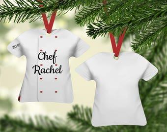 Chef Coat Red/White Ornament