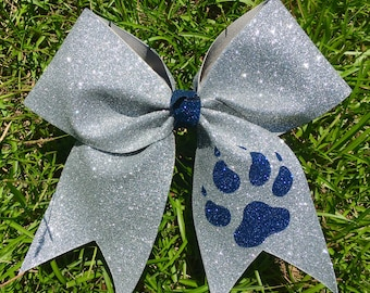 Glitter Cheer Bow with Paw option