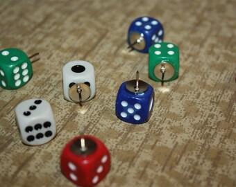 Casino Dice Thumb Tacks - Push / Drawing Pins! (You Get 4 Dice Per Order!!)