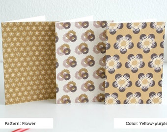 Flower card set by color