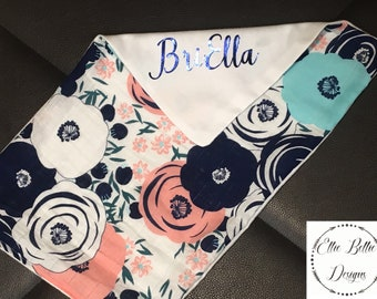 Personalized burp cloths! Baby shower gift.