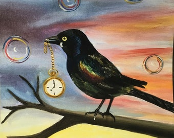At The End of the Day bird painting
