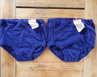 Soviet Boys/Girls Vintage Underwear Unused Vintage Underwear Blue Underpants 100% Cotton Made in USSR era
