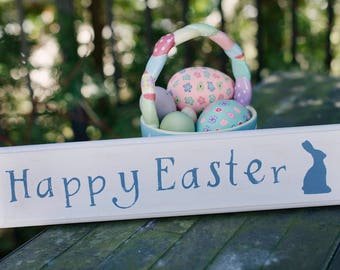 Happy Easter Rustic Wood Sign