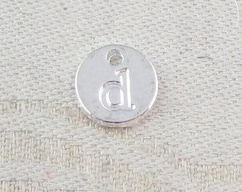 1 or 5, Initial Charm, Charm Bracelet, Lower Case Letter, Silver Letter, Initial Pendant, Alphabet Charm, Lower Case Charm, ALF021d-PL