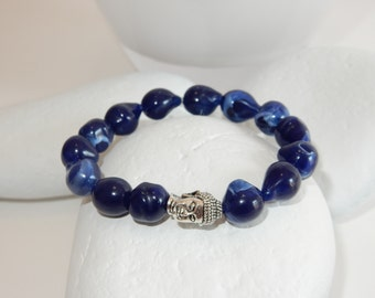 Cobalt Blue Buddha Bracelet