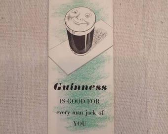 Vintage Guinness Bowls scorecard, unused.