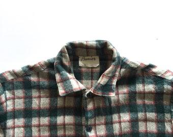 Mens New Zealand Wool Outdoors Shirt, 1970s, New Zealand, Medium Mens, Swanndri, Mens Shirt, Wool, Hunting Shirt, Bush, Lumberjack, Mens