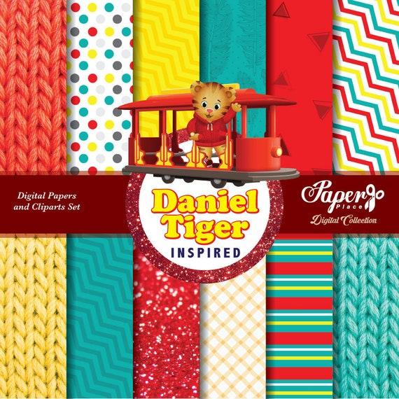 Daniel Tiger Digital Scrapbook Paper And Clipart Set Daniel