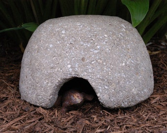 Hypertufa Toad House, Frog House, Outdoor Garden Toadhouse