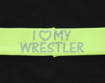 I Heart My Wrestler Headband