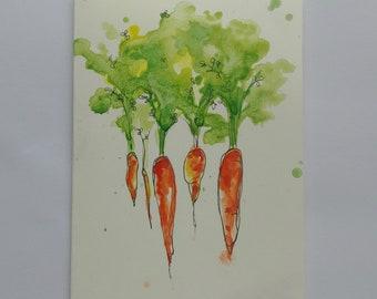 Carrots Watercolour