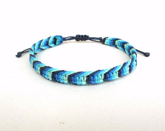 Waves bracelet, Surfer bracelet, surfer wristband, beach bracelet, teens bracelet, mans bracelet, mens bracelet, teenager bracelet, sea blue