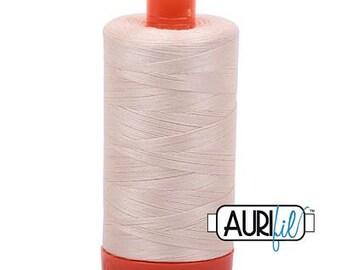 Aurifil  50 WT Mako Cotton Thread-Light Sand 1422 yards #1050-2000