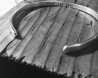 Say What You Want To Say ---The price is for ONE - up to 20 lowercase letters or small capital -cuff---Custom  jewelry by SimaG
