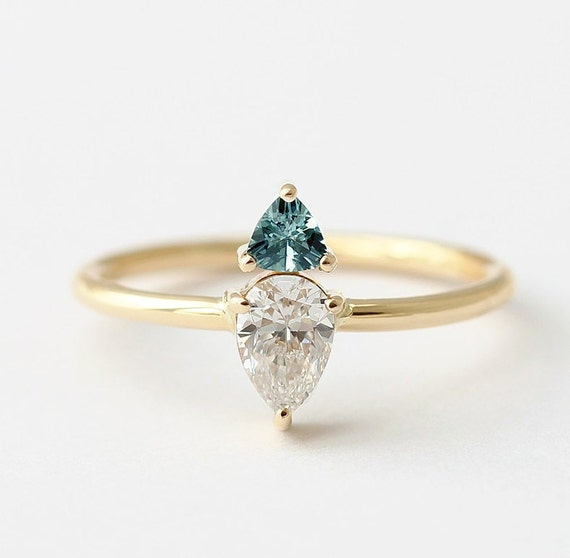 a ring rings engagement natural sapphire white gem