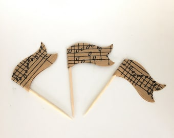 Music Cupcake Flags, Cupcake Toppers