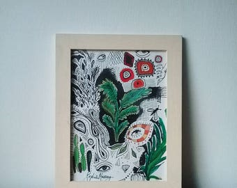 Plants & Eyes Psychedelic Illustration