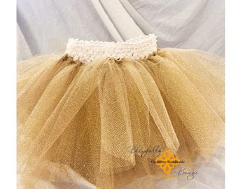 LIMITED glitter gold infant tutu