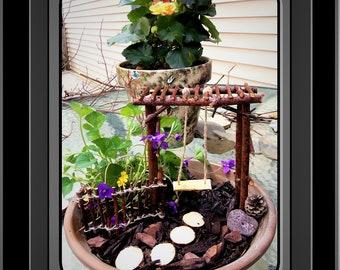 fairies - fairy garden kit - fairy gardens   -fairy -  faerie garden - children gifts - dish garden - daughter gift - wife gift