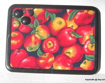 Apples Magnet Board Bulletin Board on Etsy 8x11 Message Board Comes With 4 Button Magnets Adults Grandparents Nursing Home Kitchen Dorm