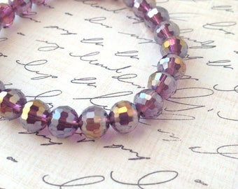 Purple Irridescent Stretch Bracelet