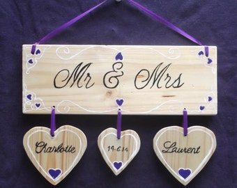 Wedding Gift Personalised Bride and Groom Mr and Mrs Happy Couple Special Wedding Day Keepsake Memory  Gift