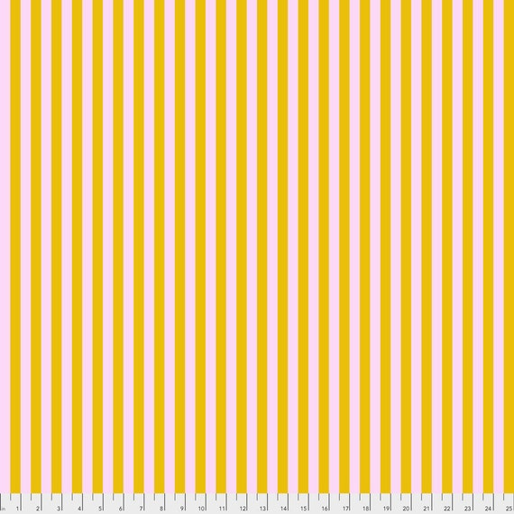 """FQ (18""""x22"""") TENT STRIPES Marigold Tula Pink Multiple units cut as one length"""