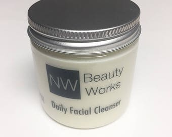 Natural Daily Facial Cleanser   Great for Sensitive Skin!   Fresh Lemon/Orange Scent   Will Make Your Skin SO Soft!   4 OZ