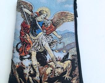 Saint Michael/ Saint Michael Rosary Bag/Saint Michael Gift/Saint Michael Archangel.