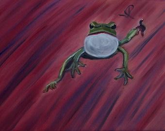 PRINT, Frog Painting, Jump