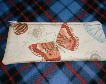 Butterfly Pencil Zippered Pouch