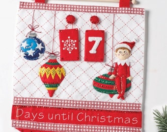 Finished Bucilla Christmas Elf On The Shelf Countdown Banner Advent Calendar Pre-order 2018